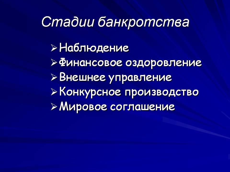 stadii-bankrotstva-yuridicheskogo-lica