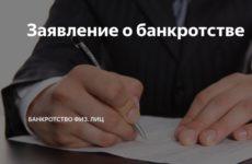 Заявление на банкротство физического лица: образец заполнения