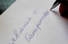 Заявление о признании должника банкротом: образец иска о банкротстве